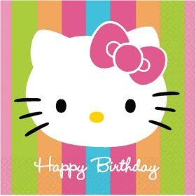 Happy Birthday With Hello Kitty Theme