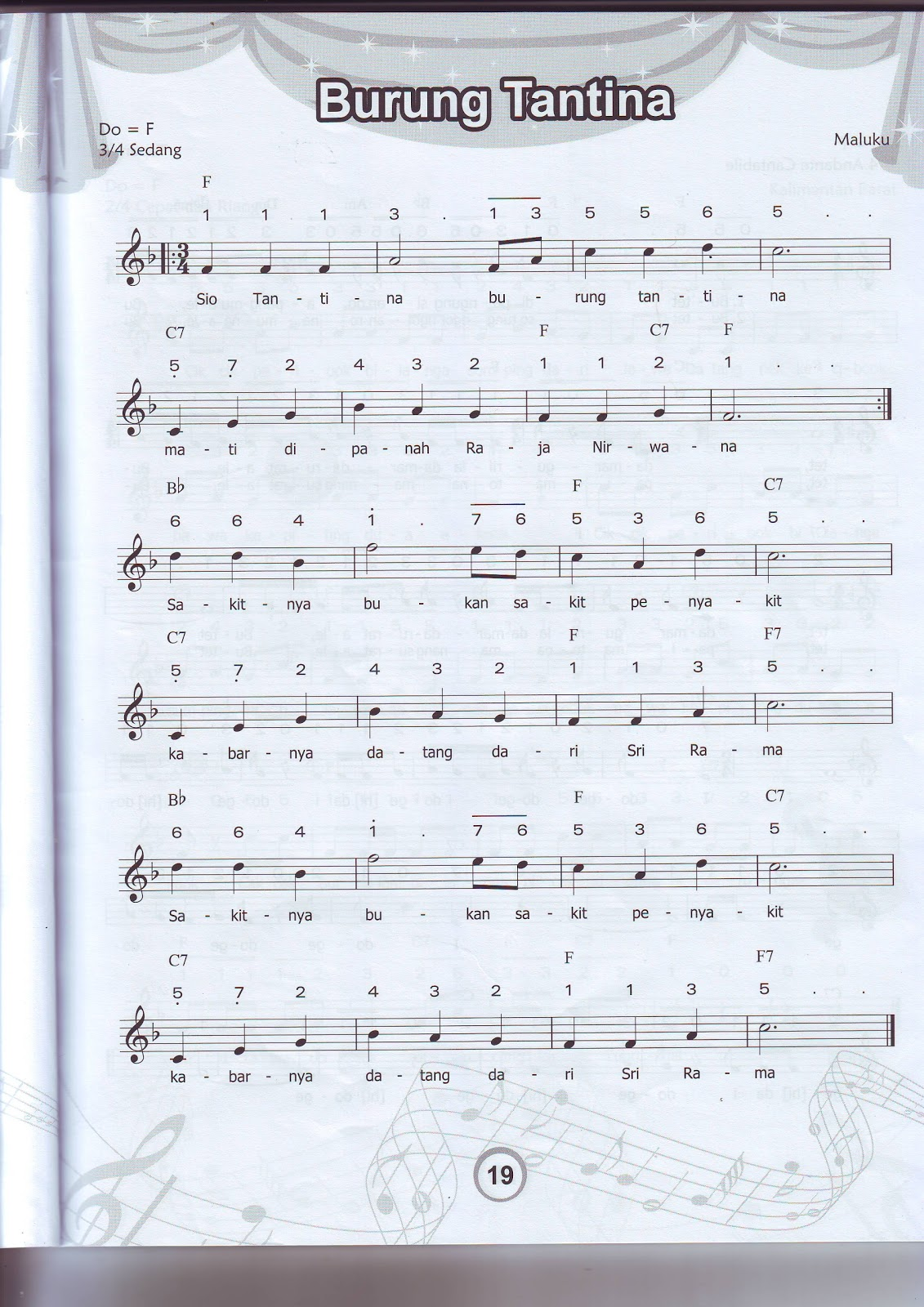 Not Angka dan Balok, Lagu: