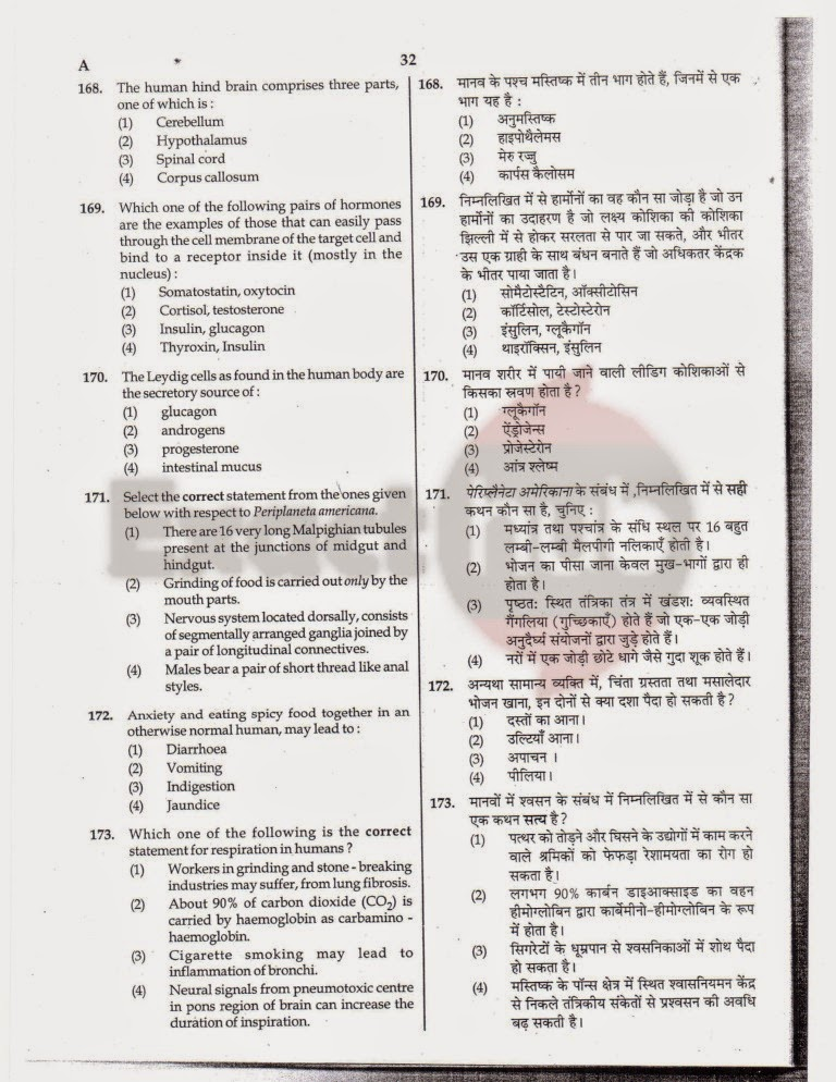 AIPMT 2012 Exam Question Paper Page 32
