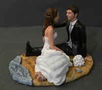 cake topper elegante statuine esclusive per torte matrimonio orme magiche