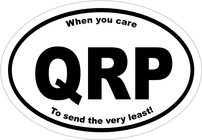 QRP Car sticker