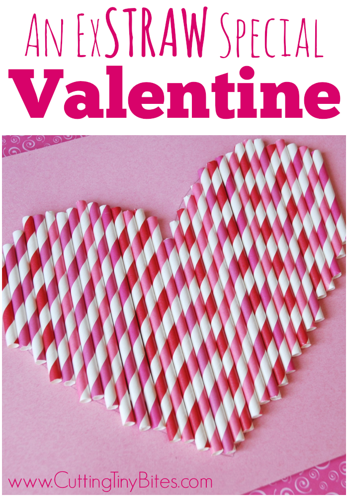 Valentine Craft for KidsAn ExSTRAW Special Valentine- Easy heart craft for preschoolers or older children, using paper straws.