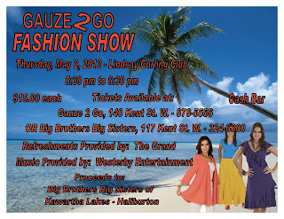 image banner Big brothers Big Sisters Fashion Show Poster