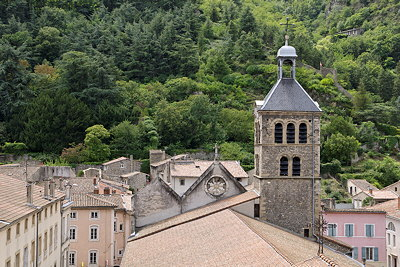 Image of an old belltower in Tournon sur Rhône