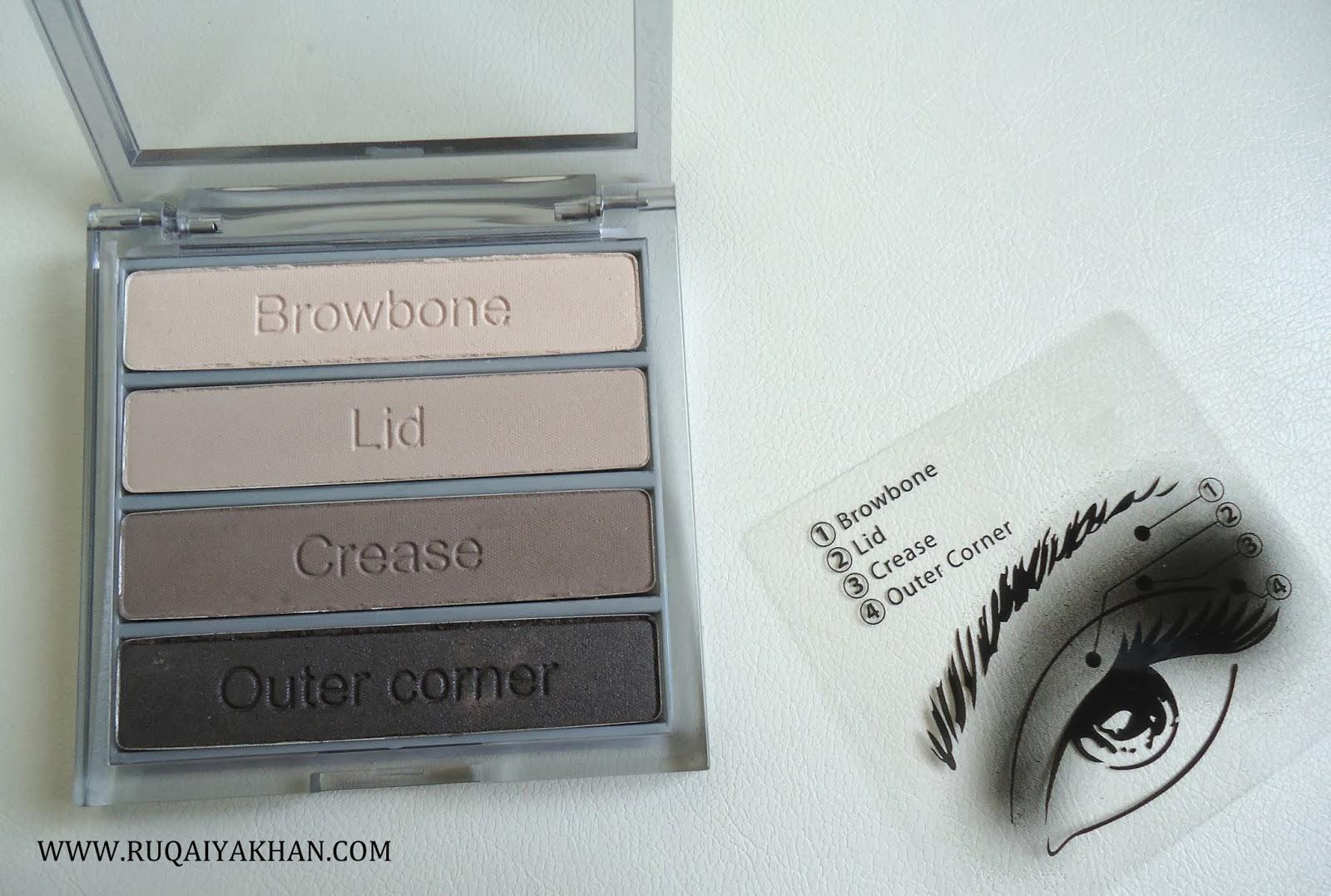 Ruqaiya khan cargo essential eye shadow palette in cool for Cool neutral color palette