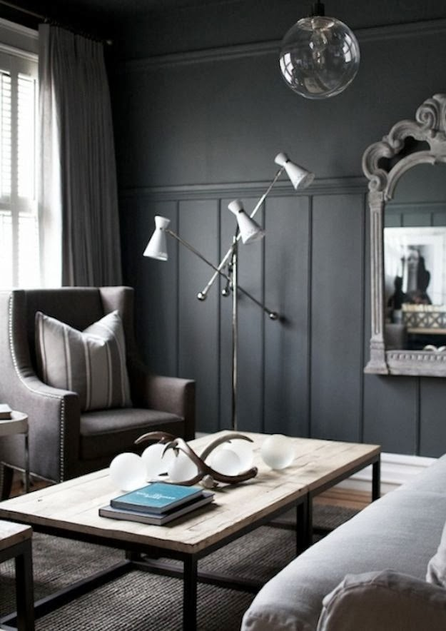 Lisa mende design my top 5 favorite charcoal gray paint for Wall colors for dark rooms