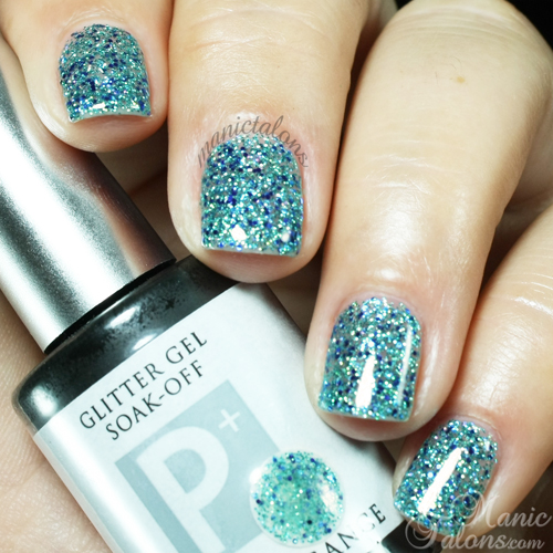 Light Elegance P+ Glitter Gel Lagoon Swatch