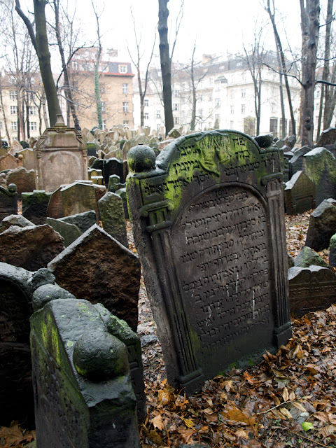 Lápidas en el Cementerio Judío de Praga
