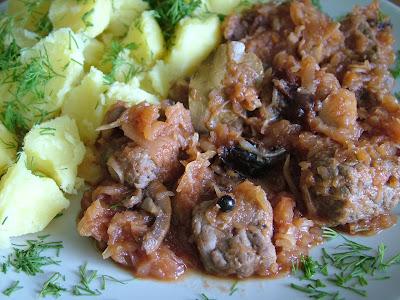 Bigos z kapusty mieszanej z wołowiną