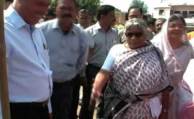Madhya Pradesh minister Kusum Mehdele landed in a controversy after she kicked a boy who had prostrated before her, in his head.  Kusum Mehdele had gone to Panna for an official function and was walking back to her car when the incident occurred.