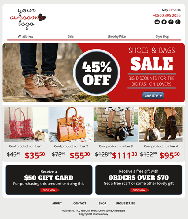 NEWSLETTER TEMPLATE FOR ECOMMERCE
