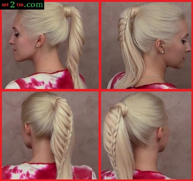 L knafo do it yourself diy hairstyle braided ponytai diy hairstyle braided ponytai solutioingenieria Gallery