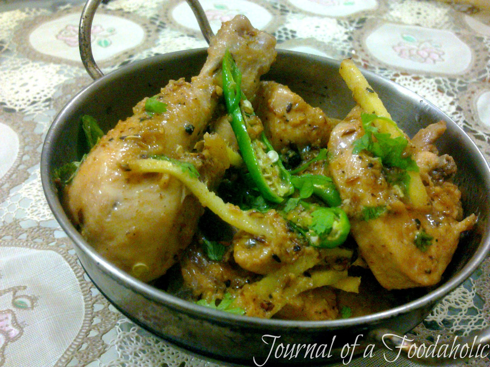 Journal of a foodaholic white chicken karahi forumfinder Gallery