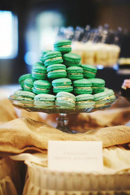 Green Tinted Vanilla French Macarons