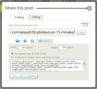 code <embed> pour prezi player, cliquez pour agrandir l'image