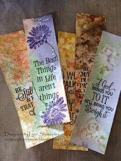 Distress Ink Bookmarks by Lynn Shokoples