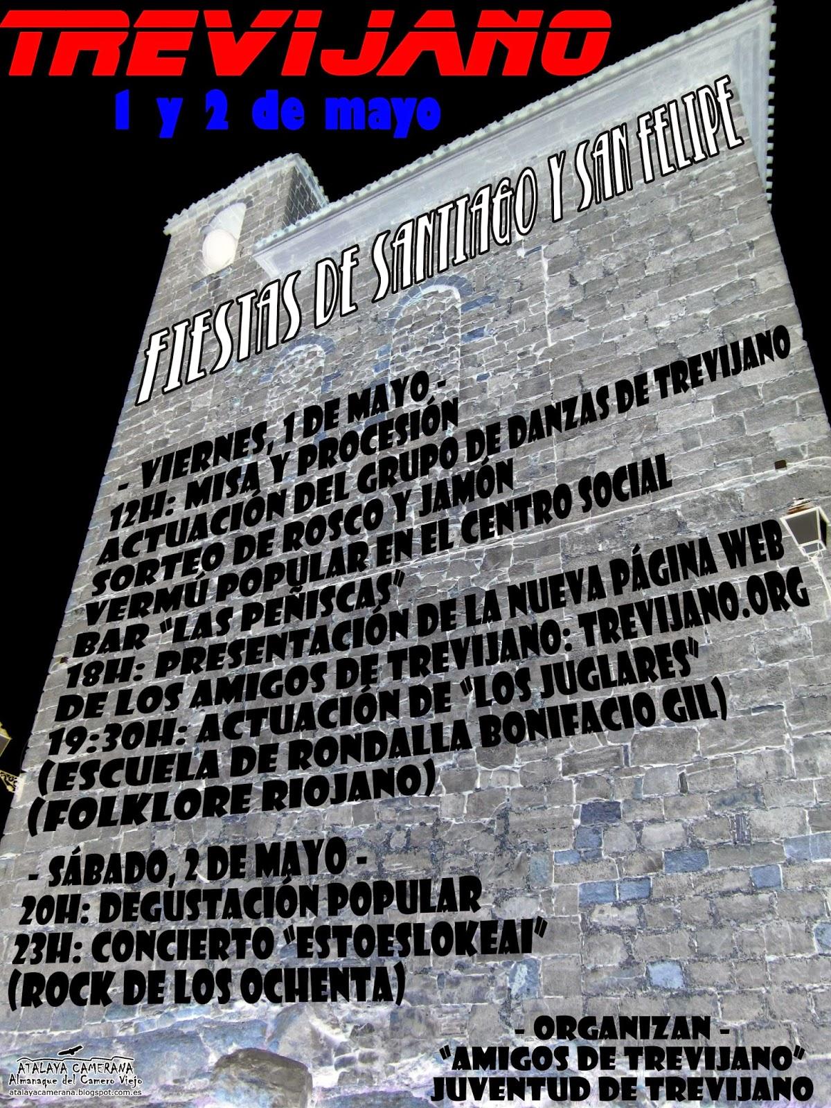 1 y 2 de mayo: fiestas de Santiago y San Felipe en Trevijano