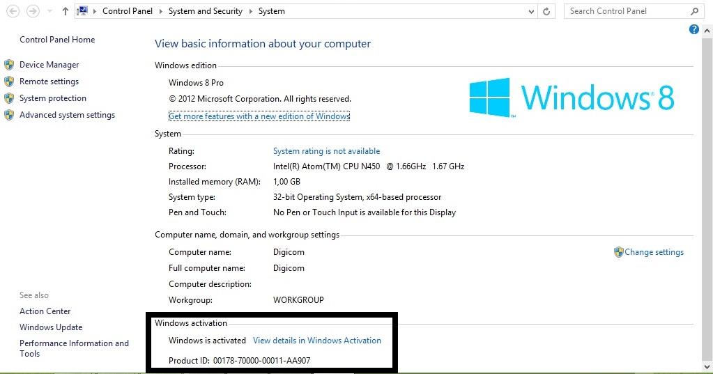 Aktivasi offline windows 8 Proffesional