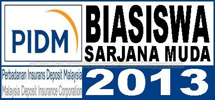 Tawaran Biasiswa Sarjana Muda Perbadanan Insurans Deposit Malaysia (PIDM)