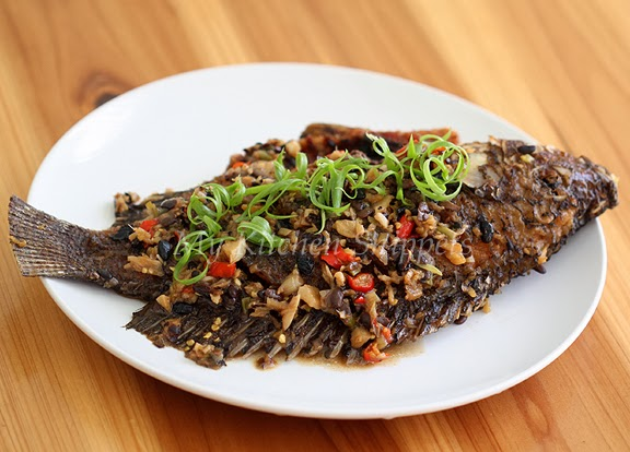 My kitchen snippets fish in fermented black bean sauce for Fish in black bean sauce