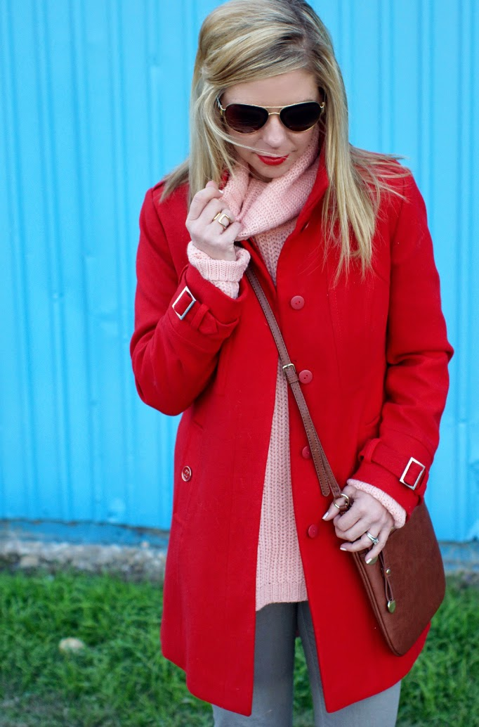 Blush and Red - Valentine's Day Outfit Idea