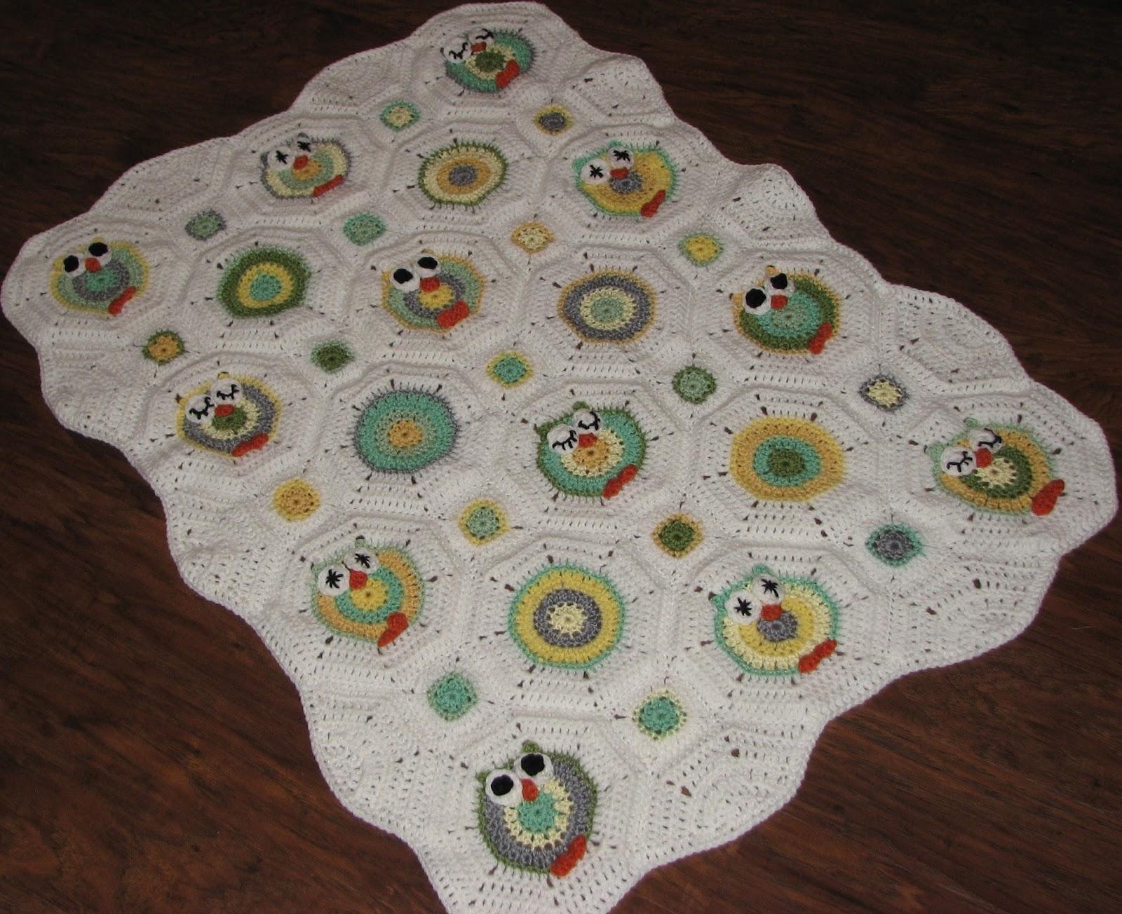 Creative Crochet by Becky: Crochet Baby Owl Octagon Granny Afghan ...