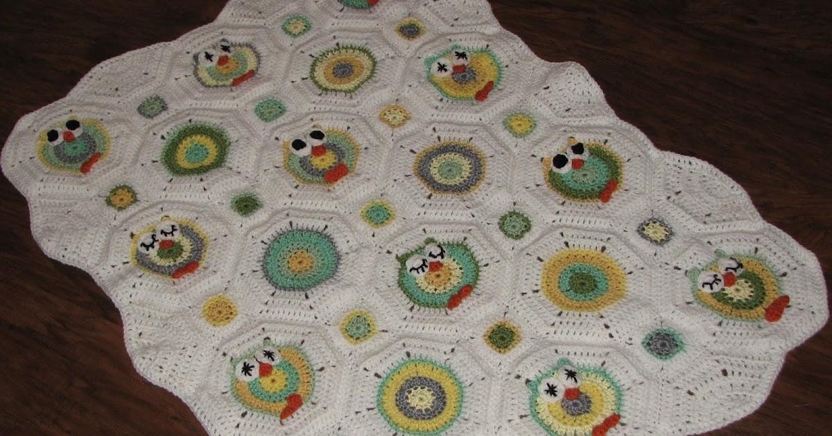 Octagon Baby Afghan Crochet Pattern : Creative Crochet by Becky: Crochet Baby Owl Octagon Granny ...