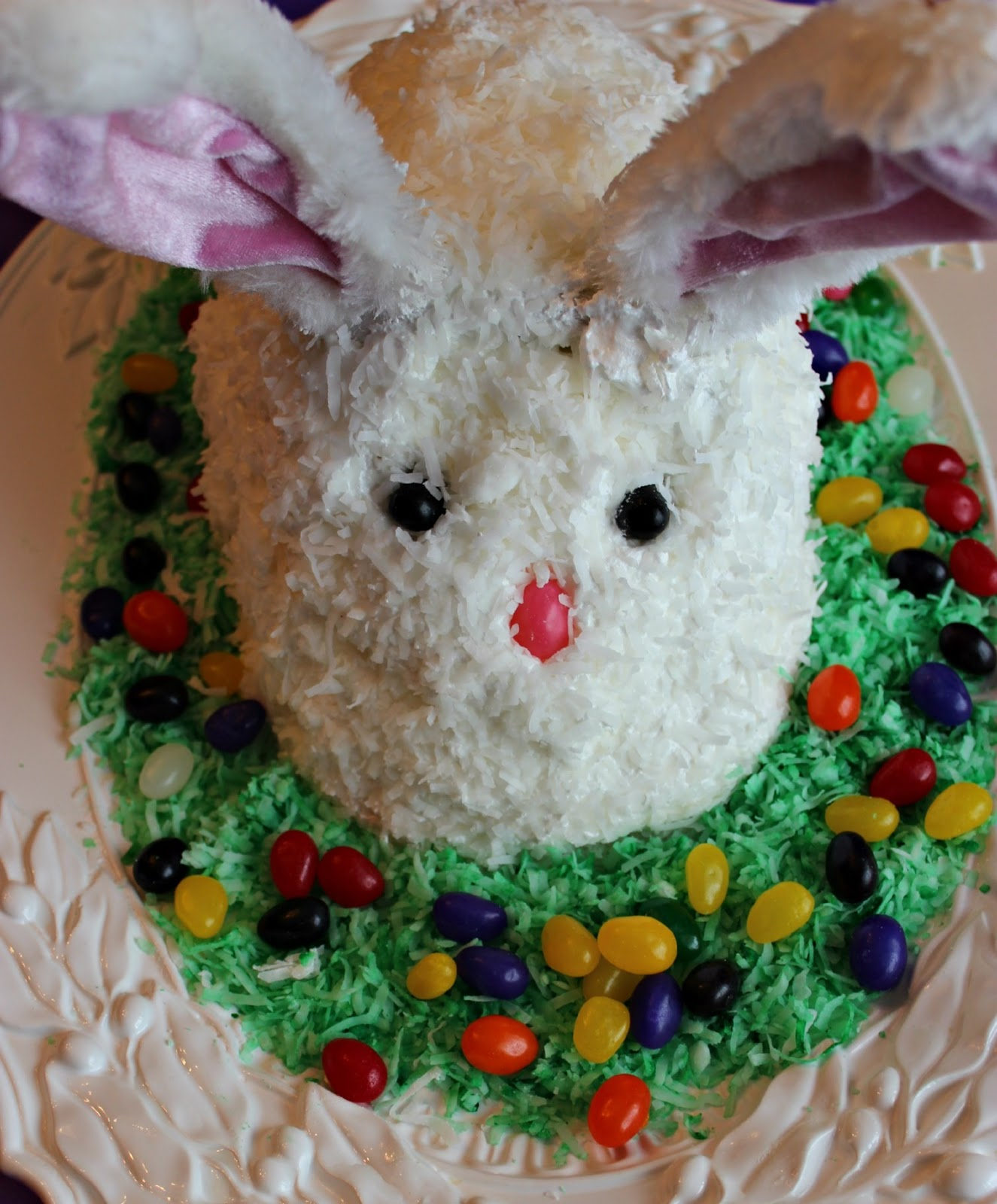Sweet Tea and Cornbread Easter Bunny Cake