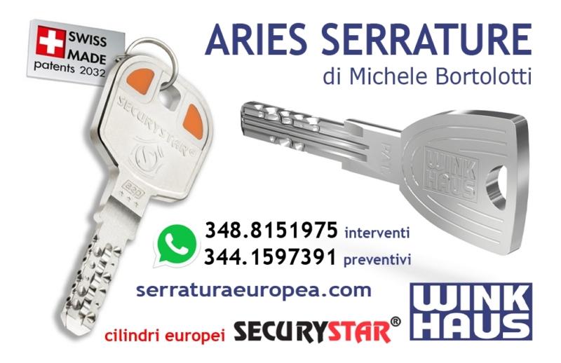 Contatti Aries serrature di sicurezza