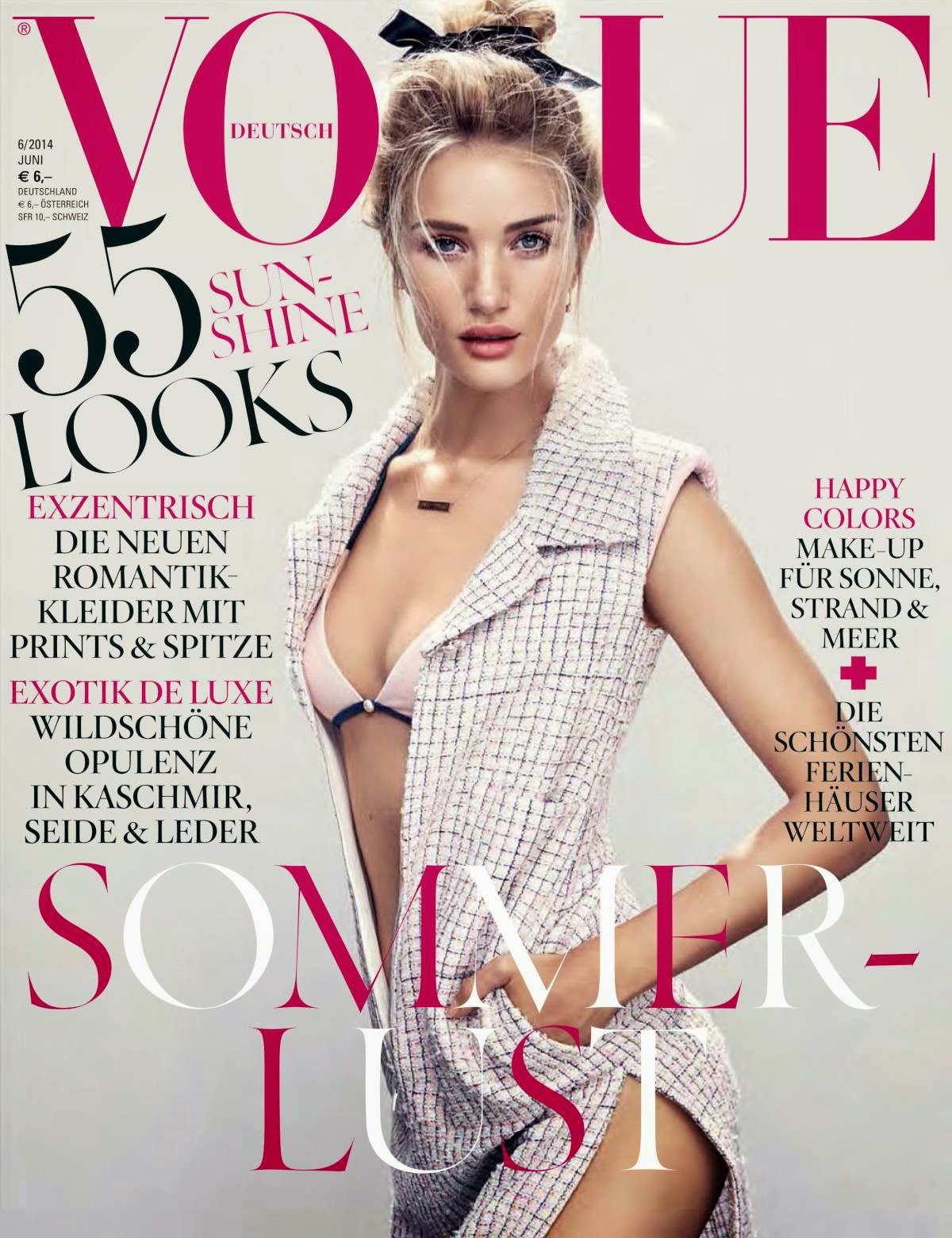 Rosie Huntington Whiteley - Hot Photoshoot for Vogue Germany Magazine (June 2014)
