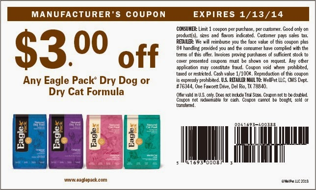 101 dog health tips 4 eagle pack dog food coupons january 2014. Black Bedroom Furniture Sets. Home Design Ideas