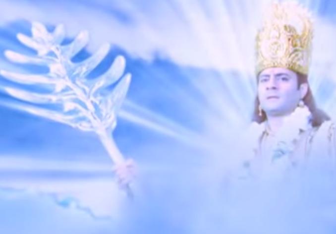 Dewa Indra Mengeluarkan Senjata Bajra