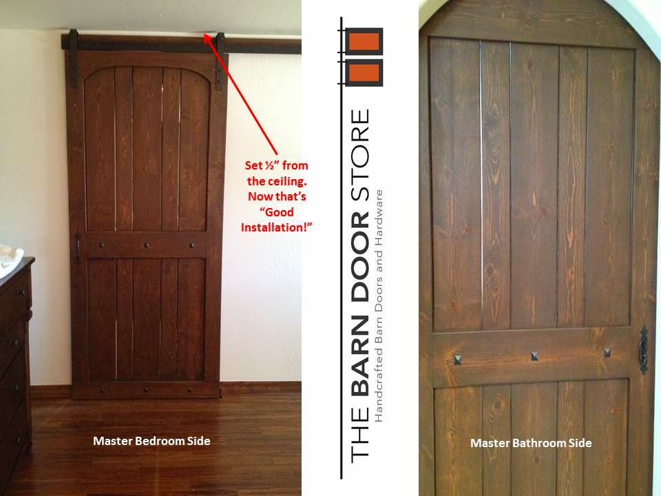 Is The Top Of Your Doorway Close To The Ceiling? Did You Think You Were Not  Able To Install A Barn Door In That Tight Space? We Have The Solution!