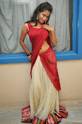 Chaithra setti sizzling in half saree-thumbnail-6
