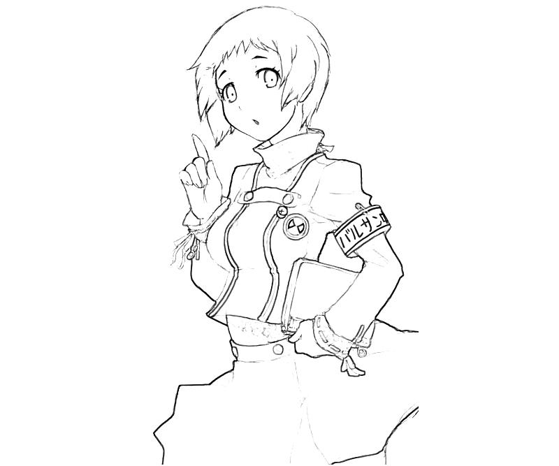 persona-4-arena-fuuka-yamagishi-characters-coloring-pages
