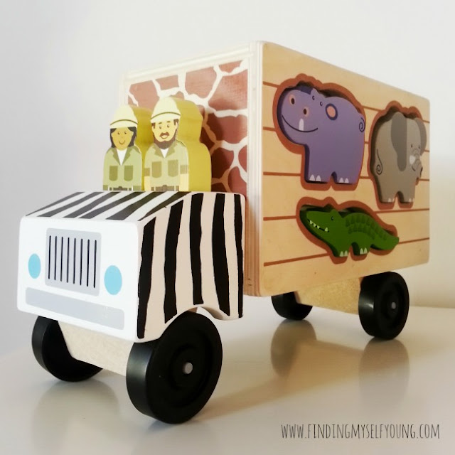 Melissa and Doug jungle safari shape sorter truck from Lucas Loves Cars