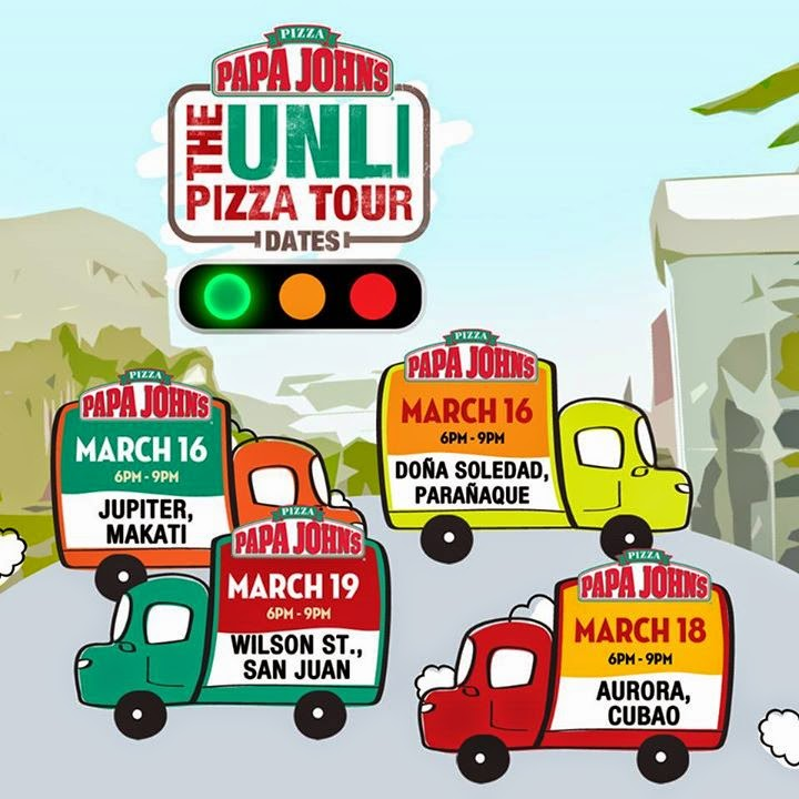 Papa John's, Unli pizza, unlimited pizza Papa John, UnliPizzaDay