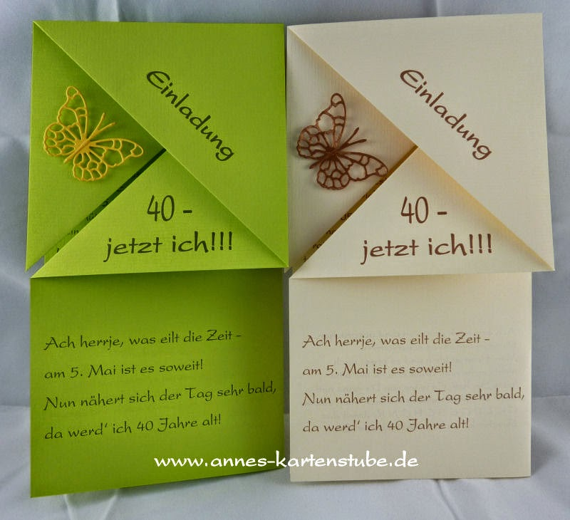 Annes Kartenstube: Gefaltete Einladung