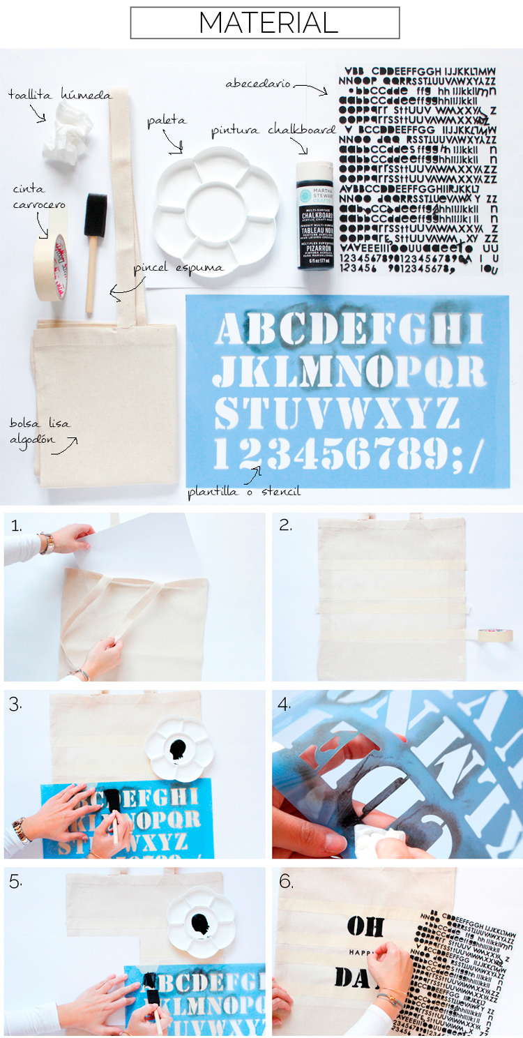 haz tu propia bolsa, como hacer bolsa de algodon, shopping bag diy, martha stewart chalkboard, how to make a shopping bag, how to make a bag, packing original, regalo original, biolsa de algodon, scrapaddictes
