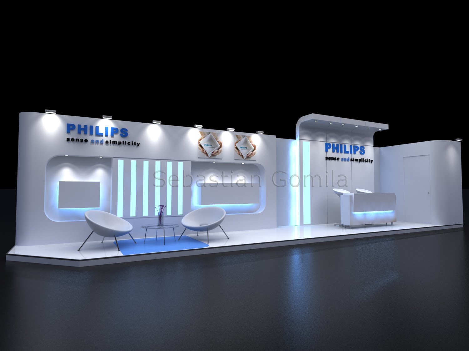 Exhibition Stall Lights : Arquitectura en d stand philips