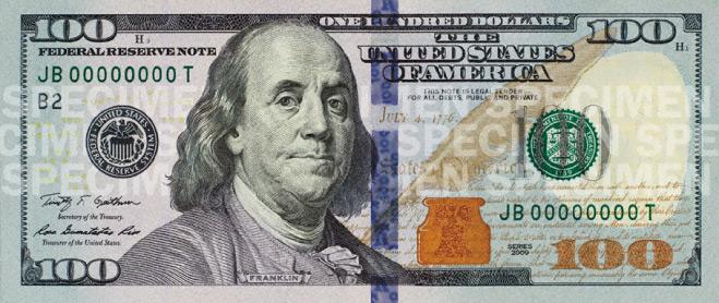10 dollar bill back. old 100 dollar bill back. old