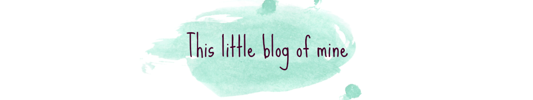 This little blog of mine