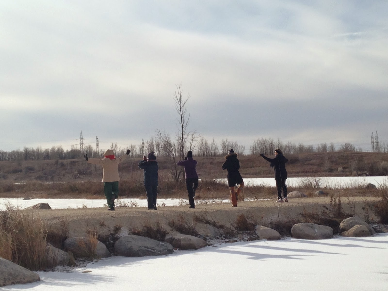 Snowga, Winter yoga, Winter activities Winnipeg, Gwendolyn Penner, Prairie Yogi, Winnipeg Yoga