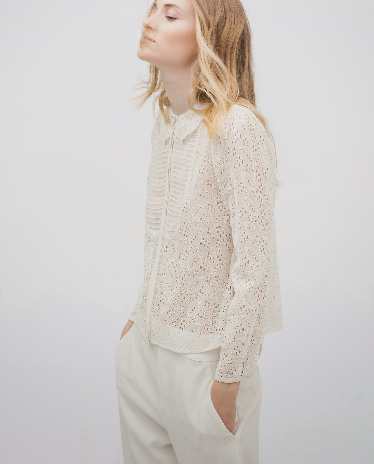 zara white embroidered shirt, zara embroidered blouse,