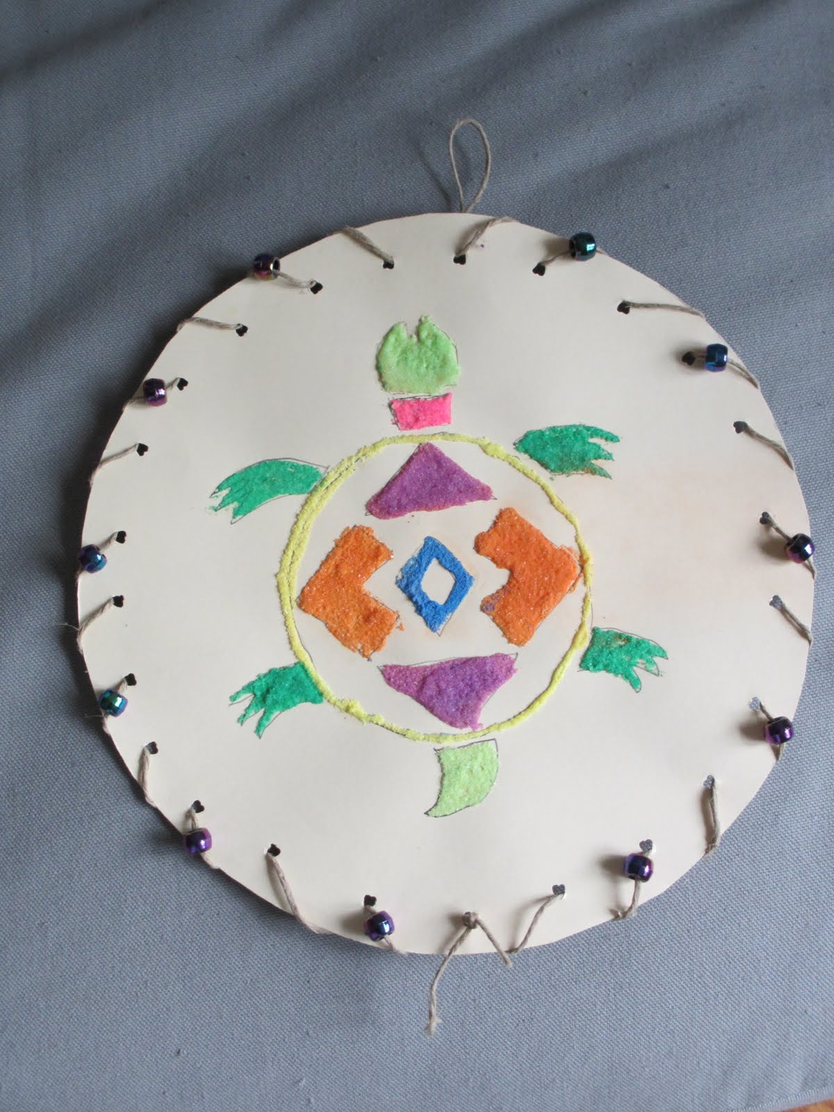 Parker art 45 native american sand art a native american style turtle freerunsca Images