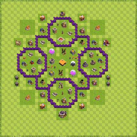 Level 7 town hall layout
