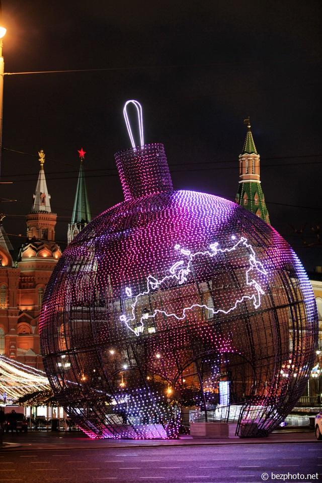 москва красная площадь фото новый год
