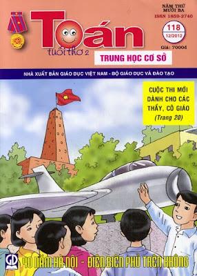 Đóng tập Tạp chí Toán học Tuổi trẻ năm 2012