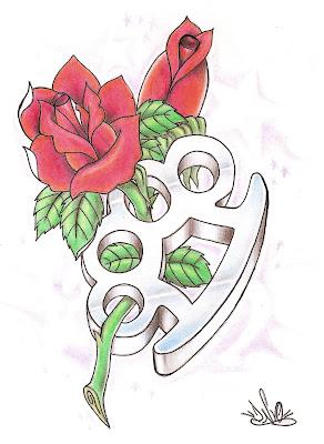 desenho new school love hate para tattoo