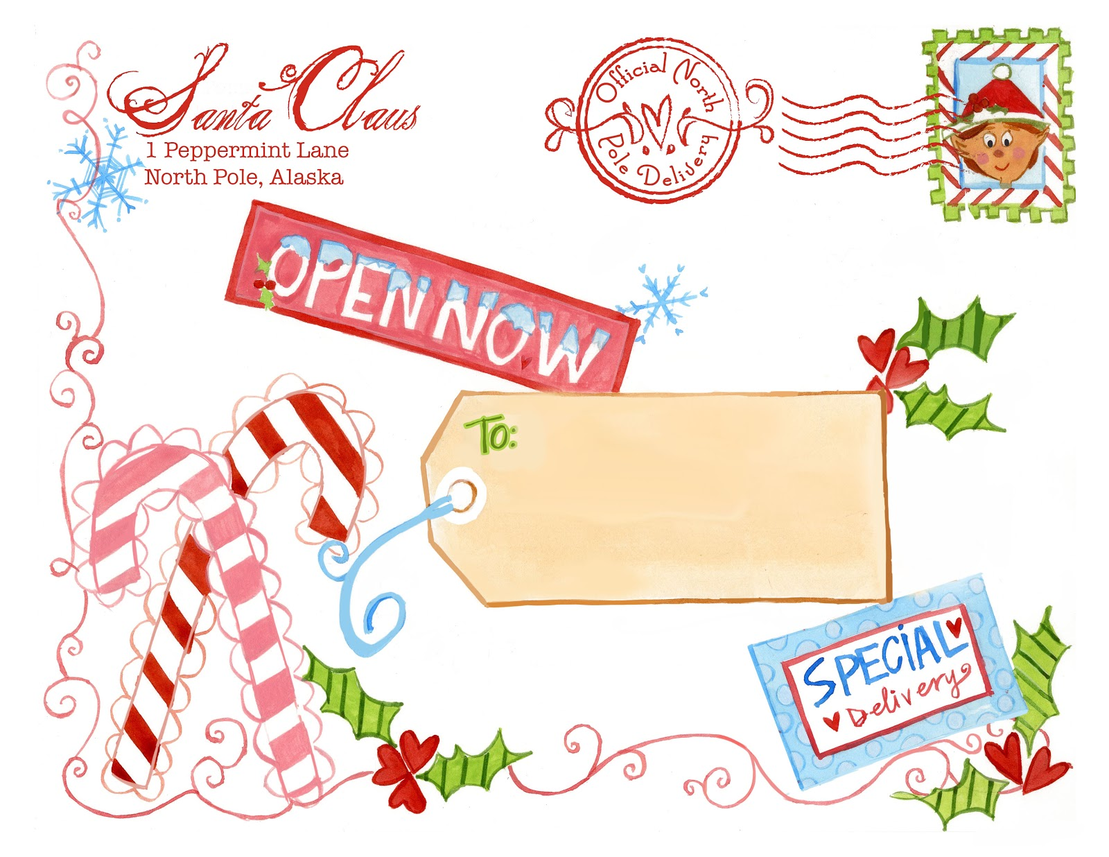 Unusual image inside free printable north pole special delivery printable